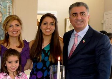 Reza Pahlavi with his Kajar Family