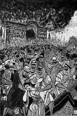 Ctesiphon burning
