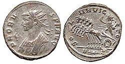 Mithras Sol invictus Münze