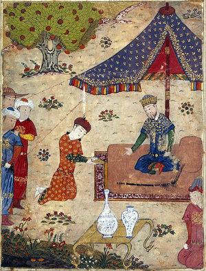Tegüder, Sultan Ahmad empfängt einen Botschafter