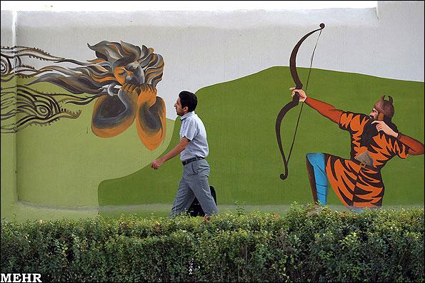 Wandzeichnungen Mashad Shahnameh