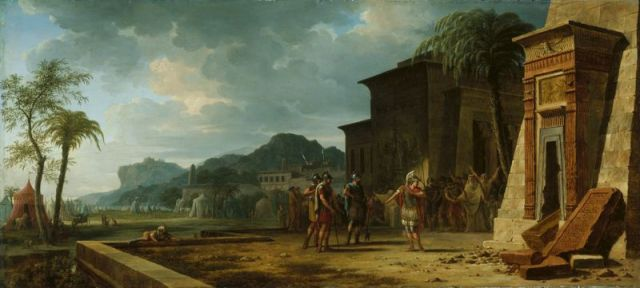 Pierre-Henri de Valenciennes -Alexander at the Tomb of Cyrus the Great, 1796