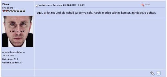 Fartab als Zirak bei INN