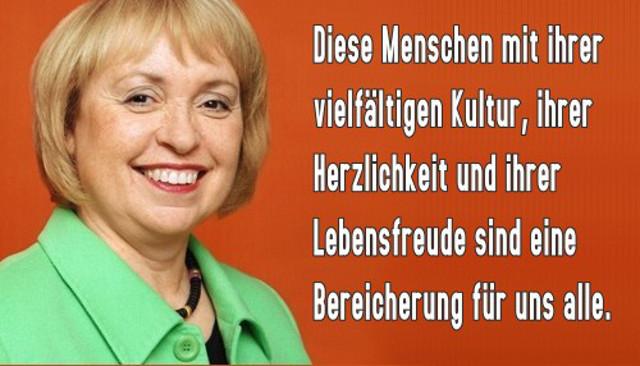 Frau Prof. Dr. Maria Böhmer (CDU), Staatsministerin für Integration im Bundeskanzleramt