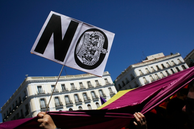 Spain - No to monarchy