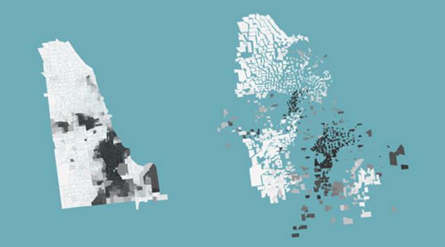 Segregation map - Chicago, Illinois