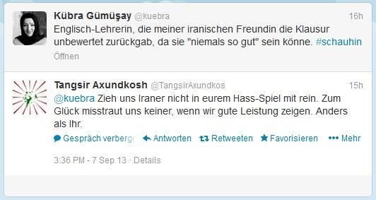 kuebra hetzt gegen die deutsche Gesellschaft