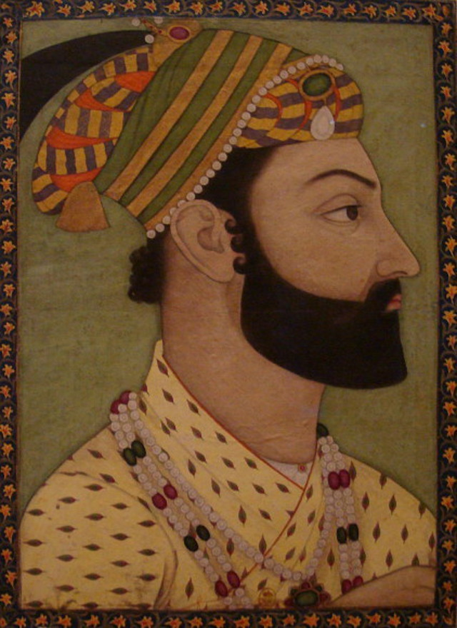 Portrait miniature of the turkish monster Ahmad Shah Durrani - Author Colonel Gentil