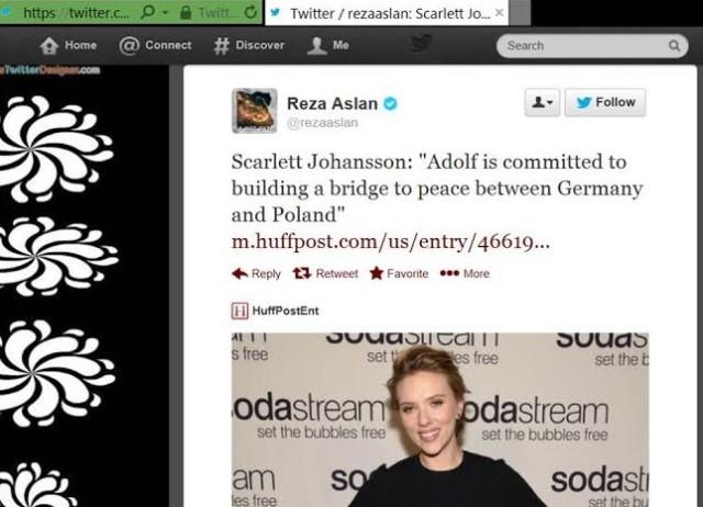 Reza Aslan aginst Scarlett Johansson