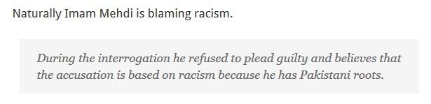 Imam Mehdi sufferin racism