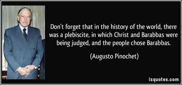 Pinochet about Jesus