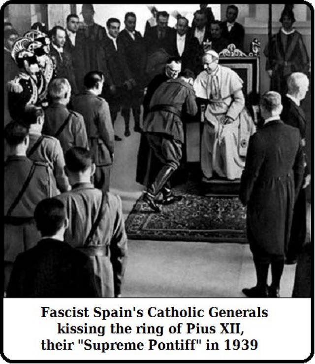 Franco küsst Papst Pius