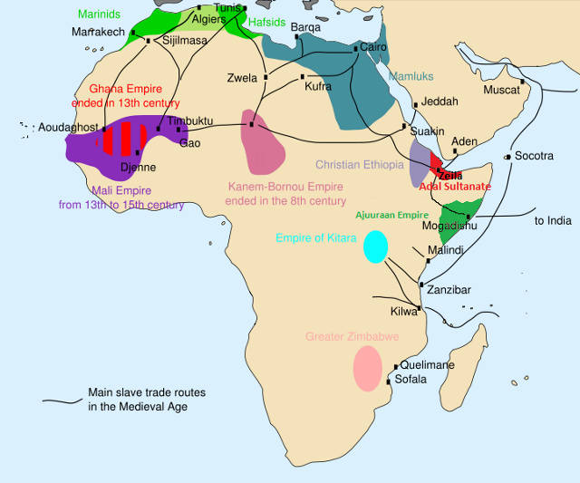 African slave trade - Author Runehelmet derived from Aliesin