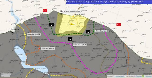 Kobane 27 Sept 2014 by @deSyracuse