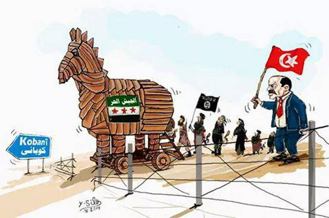 Kobane - Erdogan is a donkey
