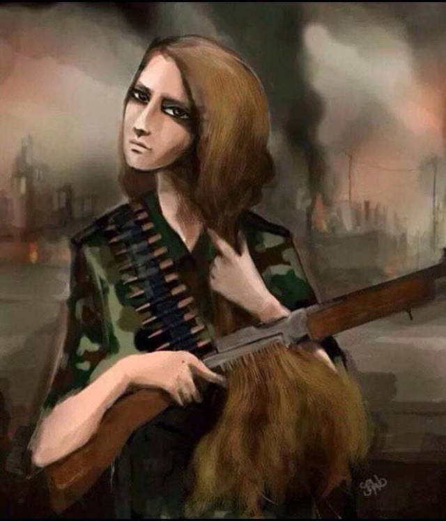 Kurdish woman | YPJ fighter by Mozafar Namdari