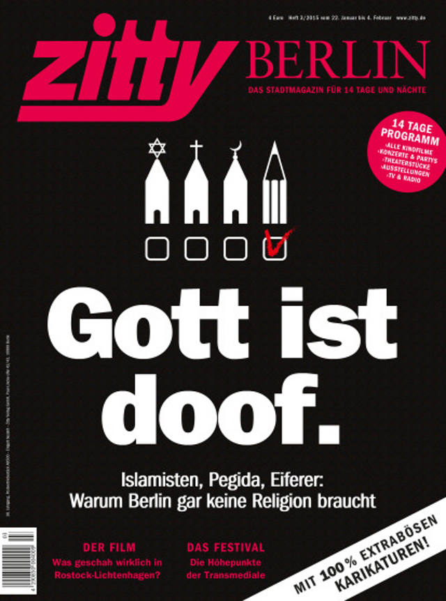 Zitty Berlin | Gott ist doof