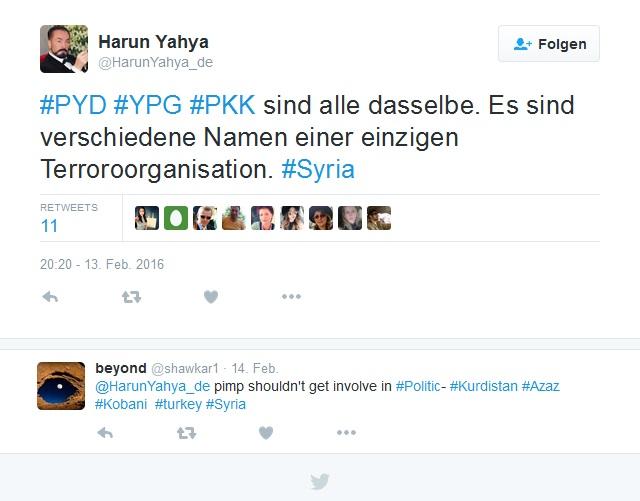 Harun Yahya about YPG