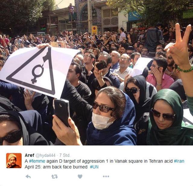 Acid attack Iran