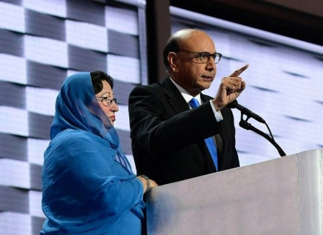 Put your goddamn Takbir-Finger away Khizr Khan, you muslim scumbag and stop using the death of your son for your personal jihad