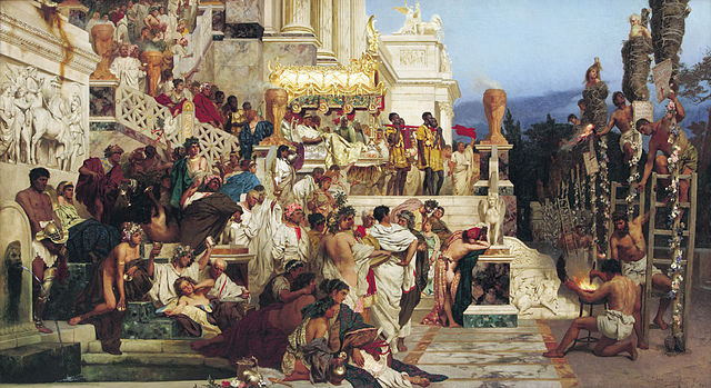Henryk Siemiradzki: Neros Fackeln (Weisendes Licht des Christentums)