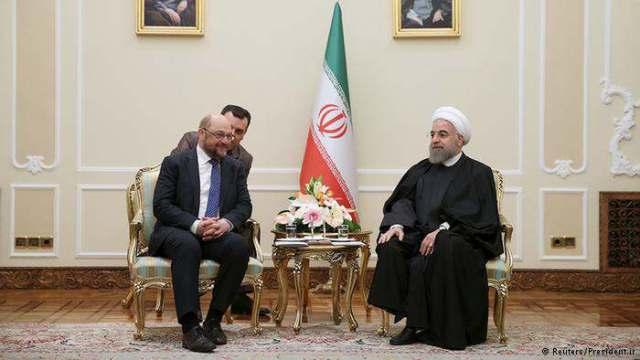 Martin Schulz mit dem Henker-Präsidenten Rohani