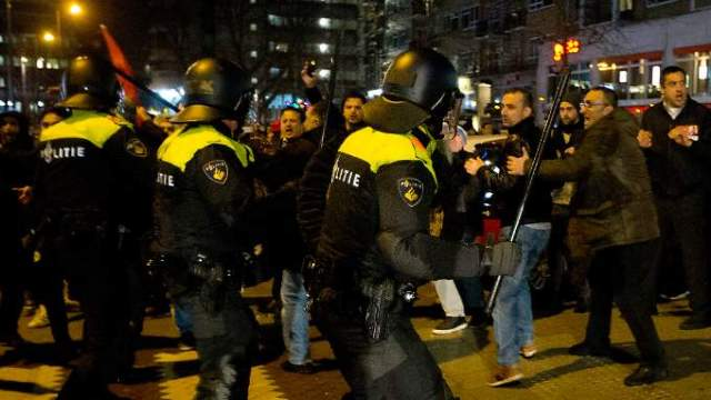 Turk riots in Rotterdam
