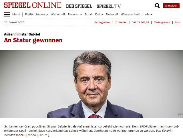 Gabriel wird bald von deutschen Medien fertig gemacht