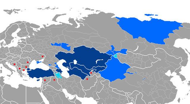 Verbreitung der Türksprachen
