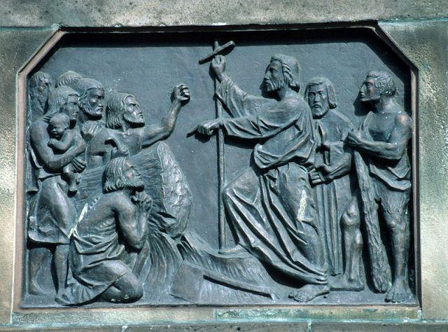 Christlicher Wüterich Bonifatius fällt die Donareiche von James Steakley