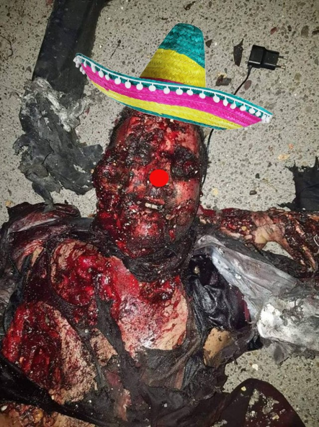 Greetings from hell from Supergeneralisimo Soleimani with Sombrero! Ole!