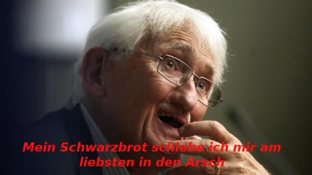 Habermas und sein Schwarzbrot
