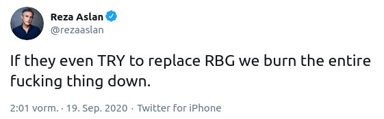 If they even TRY to replace RBG we burn the entire fucking thing down.