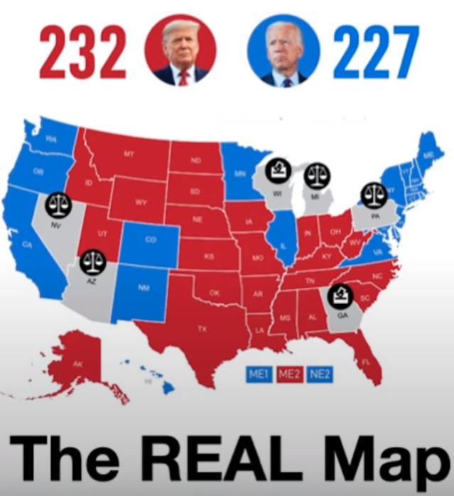 Presidenatial voting map 2020