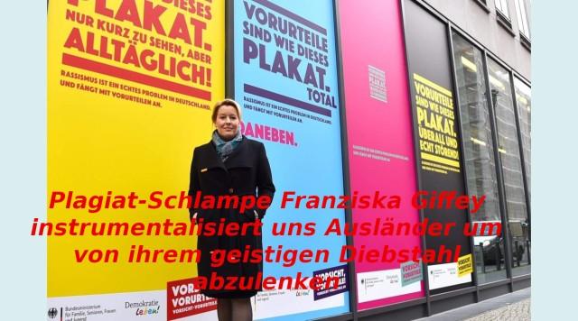 Plagiat-Schlampe Franziska Giffey
